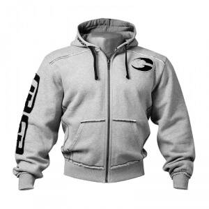 Gasp Pro Gym Hood, grey melange, xxlarge