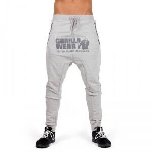 Gorilla Wear Men Alabama Drop Crotch Joggers, grey, medium