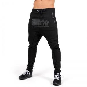 Gorilla Wear Men Alabama Drop Crotch Joggers, black, Gorilla Wear