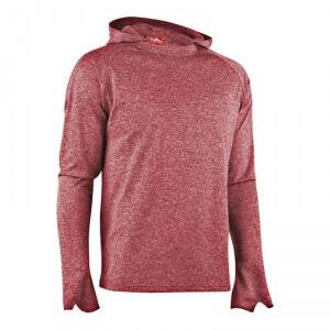MXDC Men Work Out LS Hood, red, large
