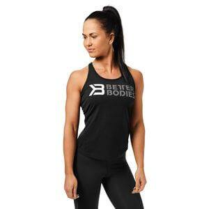 Better Bodies Printed T-back, black/white, small