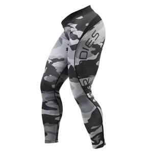Better Bodies Camo Long Tights, grey camoprint, large