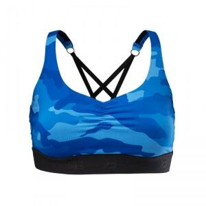 Better Bodies Athlete Short Top, blue camo, small