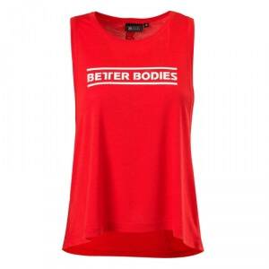 Better Bodies Deep Cut Top, scarlet red, large