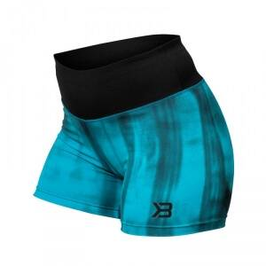 Better Bodies Grunge Shorts, aqua blue, small