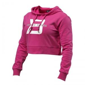 Better Bodies Cropped Hoodie, hot pink, Better Bodies