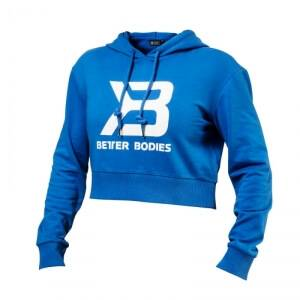 Better Bodies Cropped Hoodie, bright blue, Better Bodies