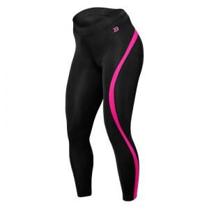 Better Bodies Curve Tights, black/pink, small