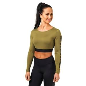 Better Bodies Chelsea Cropped L/S, military green, large