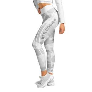 Better Bodies Camo High Tights, white camo, large
