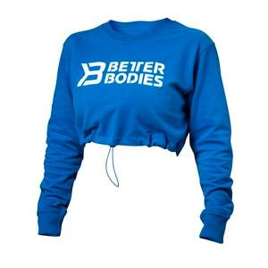 Better Bodies Madison Cropped L/S, straight blue, large