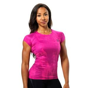 Better Bodies Performance Cut Tee, pink print, small
