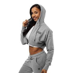 Better Bodies Astoria Cropped Hood, greymelange, small