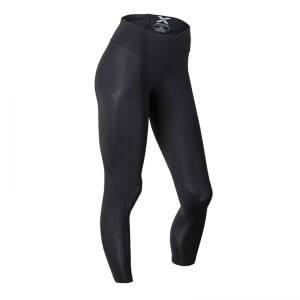 2XU Mid-Rise Compression Tights, black/dotted black logo, small