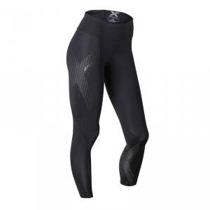 2XU Mid-Rise Compression Tights, black/dotted reflective logo, 2XU