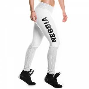 Nebbia Heart Butt Tights, white, large
