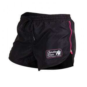 Gorilla Wear Women New Mexico Cardio Shorts, black/pink, Gorilla Wear