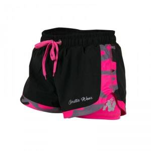 Gorilla Wear Women Denver Shorts, black/pink, Gorilla Wear