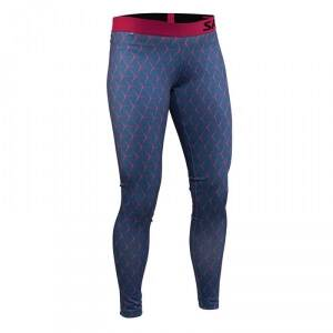 Salming Run Flow Tights Women, hexagone illusion AOP, xsmall