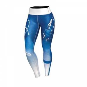 Anarchy Apparel Women Finland Nation Leggings 3.0, blue/white, large