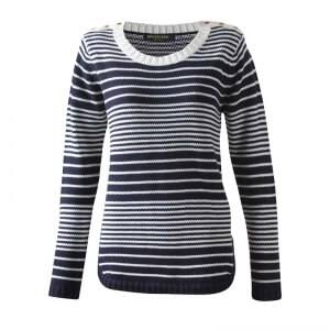 Marine Skagen Lady Sweater, navy comb, large