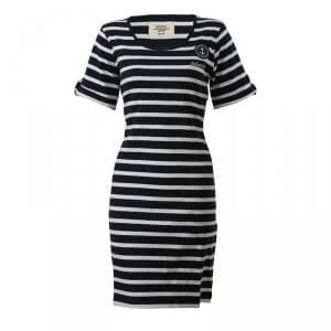 Marine Newport Dress, navy comb, large