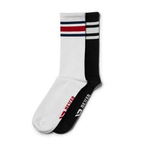 Better Bodies Brooklyn Socks, 2-pack, black/red, large