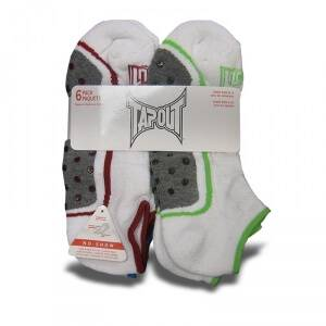 Tapout Womens Short Socks, 6-pack, white, Tapout