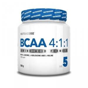 Nutricore BCAA 4:1:1, 500 g, unflavoured