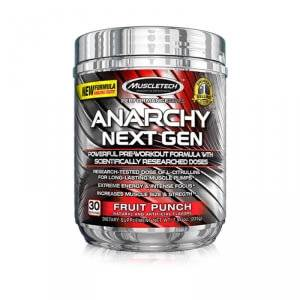MuscleTech Anarchy Next Gen, 210 g, Blue Raspberry