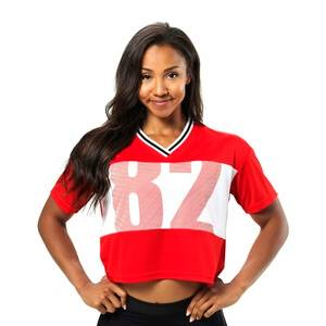 Better Bodies Trinity Tee, scarlet red, small