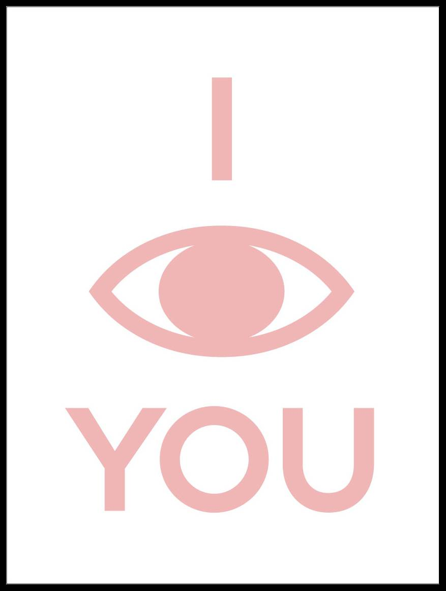 Malimi Posters I see you - Puuterinpunainen - 50x70 cm
