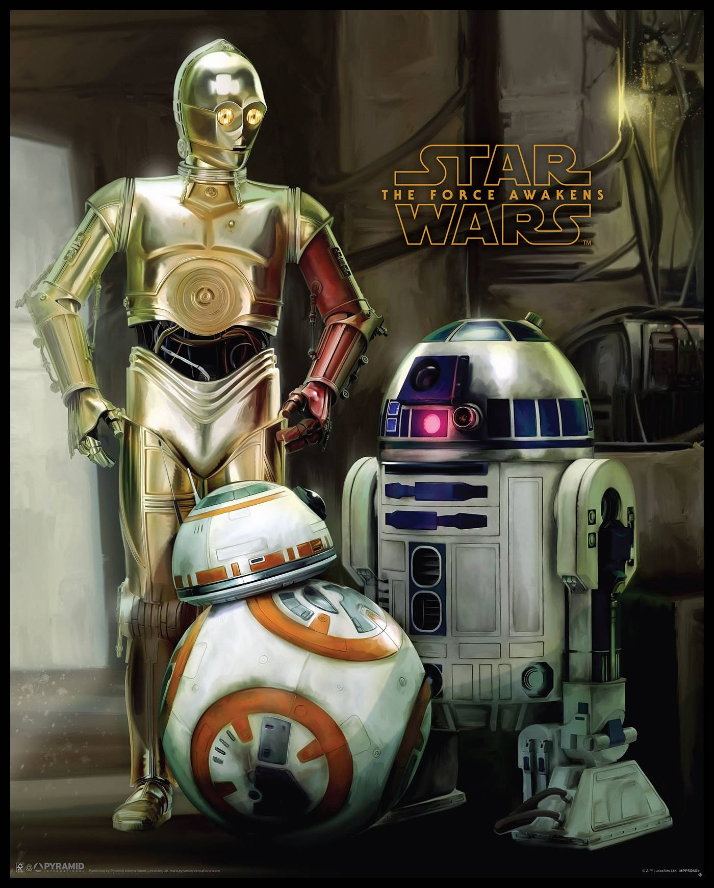 By Agus Star Wars Episode VII - Droids - 40x50 cm