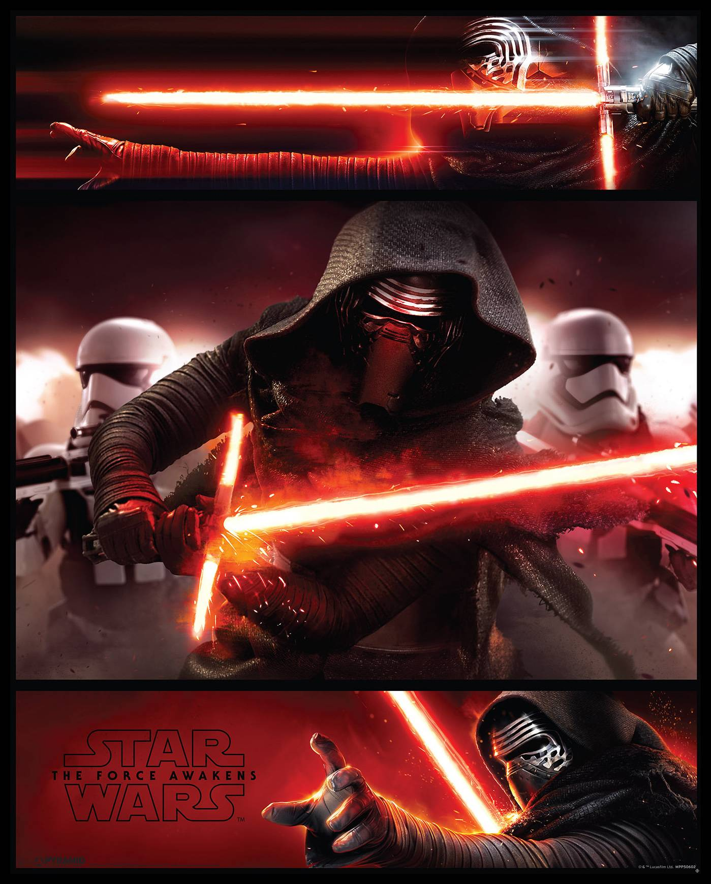 By Agus Star Wars Episode VII - Kylo Ren Panels - 40x50 cm