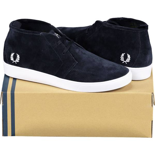 Fred Perry So Shields Mid S M Tennarit NAVY (Sizes: 41)