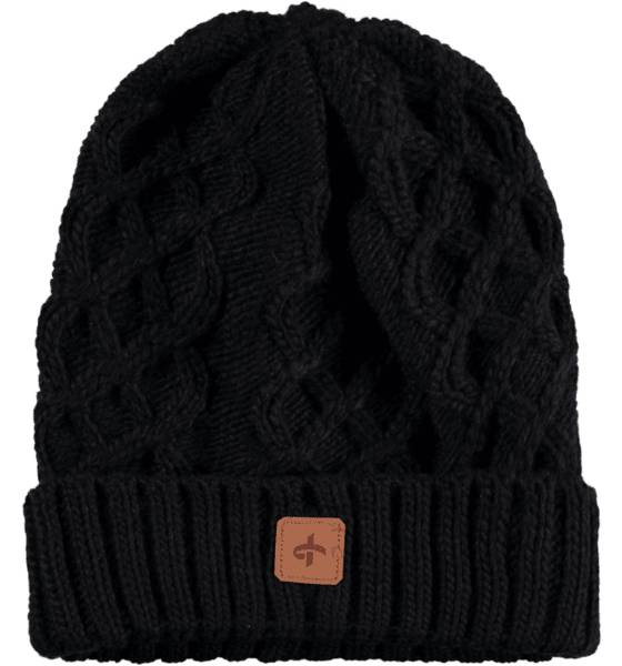 Cross Sportswear Pipot & huivit Cross Sportswear So Cable Beanie BLACK (Sizes: One size)
