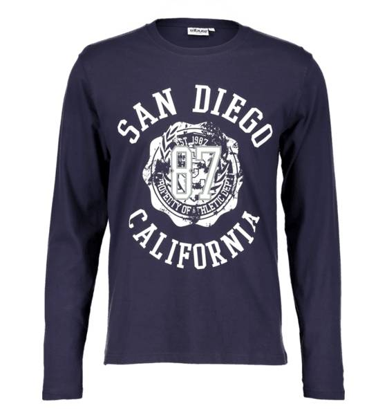 Tribute T-paidat Tribute So Print Ls Tee M NAVY SAN DIEGO (Sizes: S)