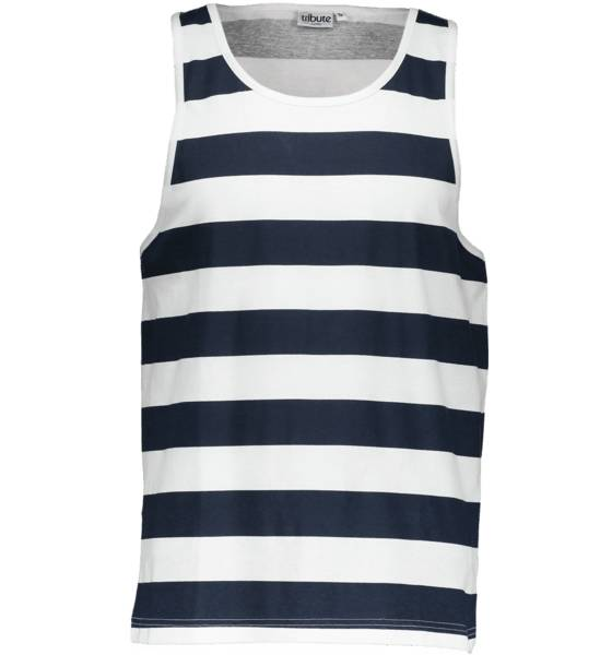 Tribute So Print Tank M T-paidat WHITE/NAVY STRIPE (Sizes: S)