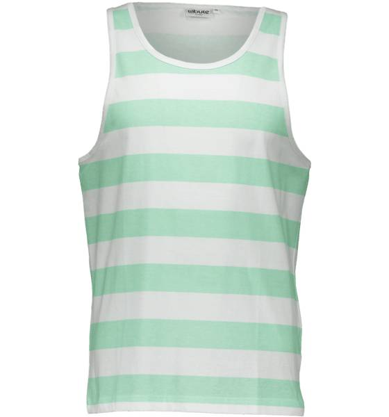Tribute So Print Tank M T-paidat WHITE/MINT STRIPE (Sizes: XL)