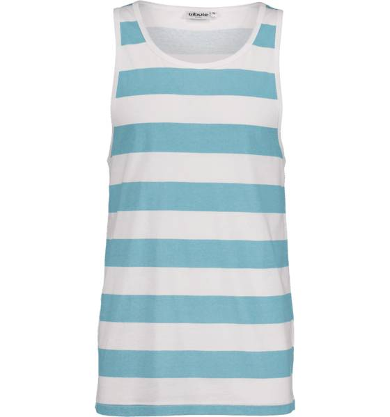 Tribute So Print Tank M T-paidat WHITE/LT BLUE STR (Sizes: S)