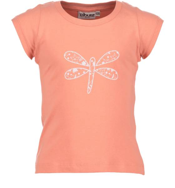 Tribute T-paidat & topit Tribute So Print Tee G Jr BUTTERFLY CORAL (Sizes: 120)