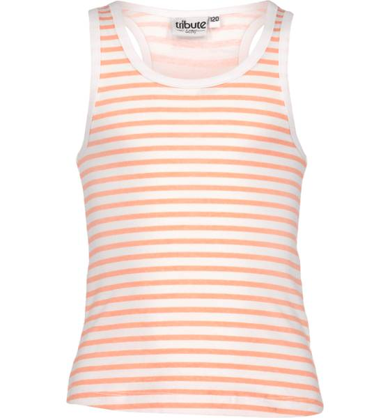 Tribute So Sum Singlet Jr T-paidat & topit WHITE/CORAL BLOCK (Sizes: 140)
