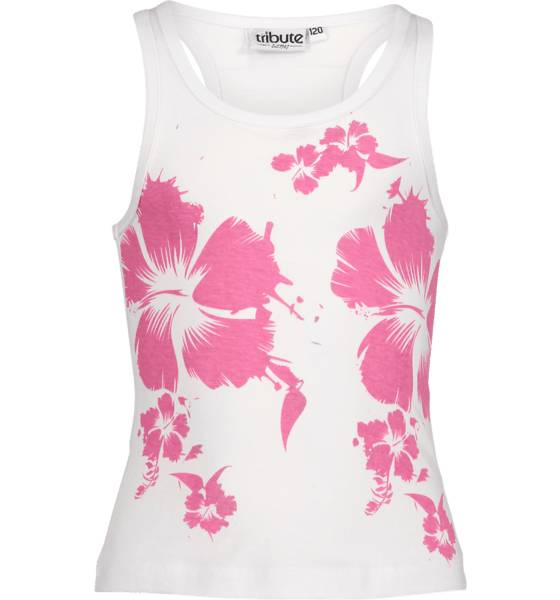 Tribute T-paidat & topit Tribute So Sum Singlet Jr CERISE FLOWER (Sizes: 150)