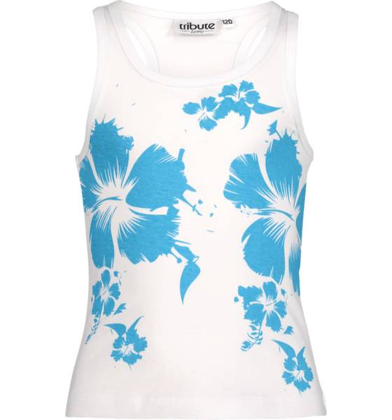 Tribute So Sum Singlet Jr T-paidat & topit TURQUISE FLOWER (Sizes: 120)