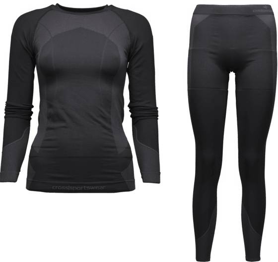 Cross Sportswear So Seamless Set 2w Aluskerrastot BLACK (Sizes: M/L)