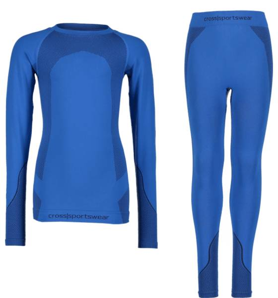 Cross Sportswear So Seamless Set Jr Aluskerrastot DK BLUE (Sizes: 158-164)