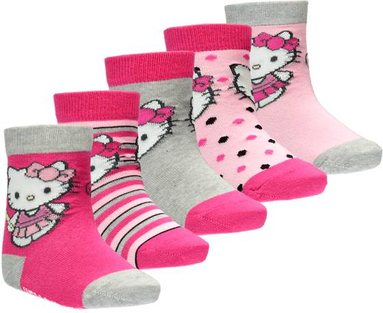 Hello Kitty Alusvaatteet Hello Kitty So 5pack Socks Jr PINK (Sizes: 28-30)
