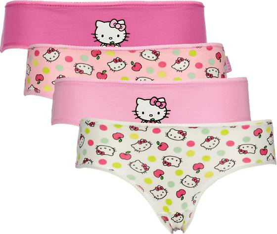 Hello Kitty So 4-p Pantie Jr Alusvaatteet PINK (Sizes: 122-128)