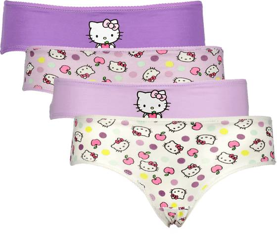 Hello Kitty Alusvaatteet Hello Kitty So 4-p Pantie Jr PURPLE (Sizes: 98-104)