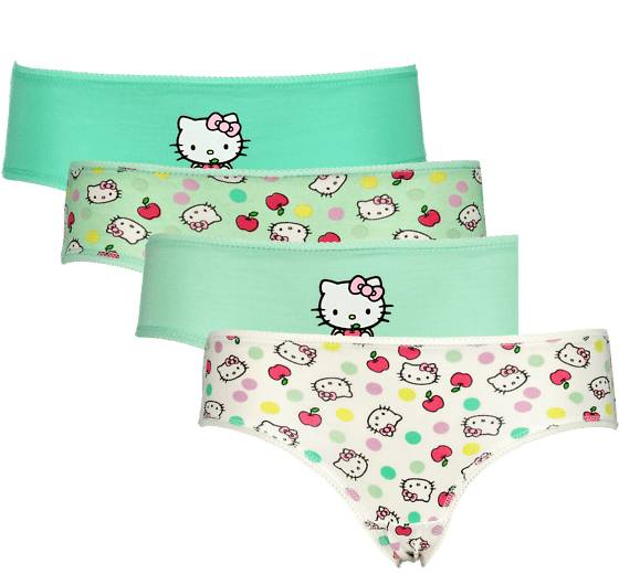 Hello Kitty So 4-p Pantie Jr Alusvaatteet MINT (Sizes: 110-116)